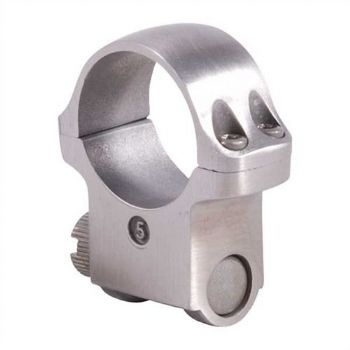 "Ruger 5K 1"" Stainless High Rifle Scope Mount Ring for KM77,K77,10/22,K1,Redhawk"